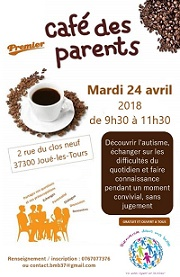 Affiche du café des parents du 24 avril