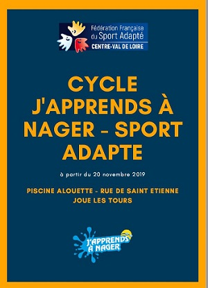 Affiche du cycle j'apprends à nager