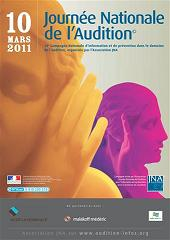 Affiche de la journée nationale de l'audition
