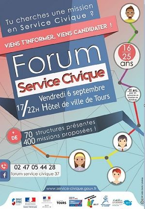 Affiche du forum service civique