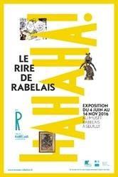 affiche de l'exposition le rire de Rabelais